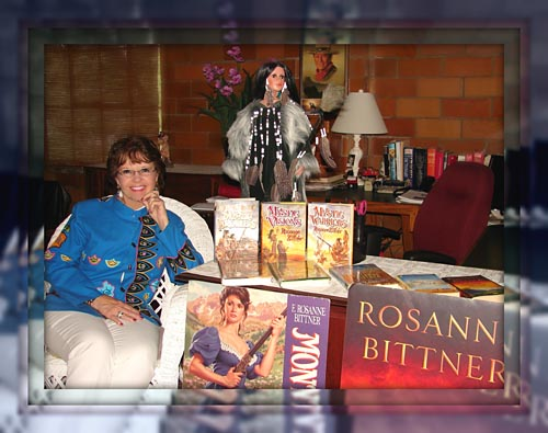 Rosanne Bittner and some of her book covers